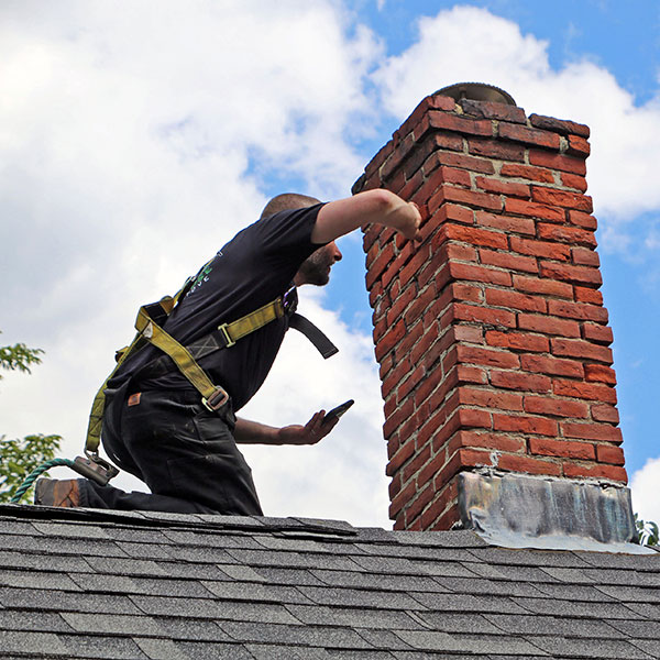 leaky chimney inspection in Milford NH